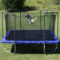 Skywalker Trampolines Square Trampoline with Enclosure, Blue, 15-Feet