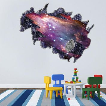 3D Solar System Outer space Astronaut wall stickers