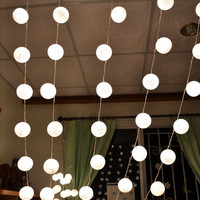 Super Promotion 5 Sets of White Cotton Balls Hanging Lights Patio Wedding String Lights (20 Lights/Set)