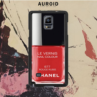 Chanel Nail Polish Rouge Rubis Samsung Galaxy Note 3 Case Auroid