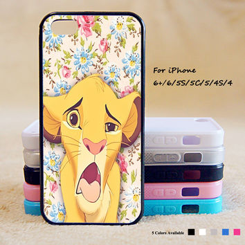 King of Lion Phone Case For iPhone 6 Plus For iPhone 6 For iPhone 5/5S For iPhone 4/4S For iPhone 5C iPhone X 8 8 Plus