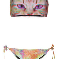 Pink Kitty Bandeau Bikini - Swimwear  - Clothing