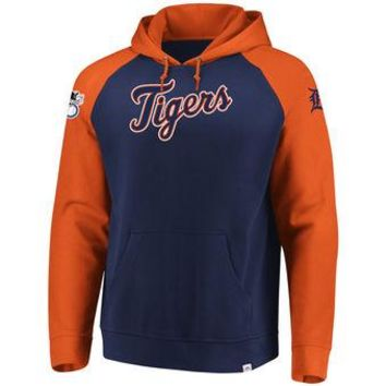 Detroit Tigers Majestic MLB Navy/orange Attitude Pullover Hoodie