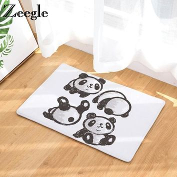 Autumn Fall welcome door mat doormat Panda Printed Funny s For Entrance Door Non-slip Mats In The Hallway Bedroom Floor Mats Foot Pads Bathroom Rugs AT_76_7