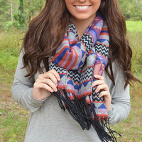 You And I Aztec Scarf: Grey/Multi