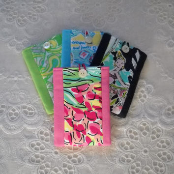 Preppy Pink Green Lilly Pulitzer Fabric Cell Phone IPhone Case 4 Colors