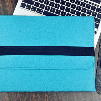 Surface  pro 3 case, Surface Pro  sleeve , Felt laptop bag, Surface  pro 2 case  , Surface 3 case, Blue bags, school bag messenger
