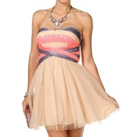 Sale-sequin Tulle Dress