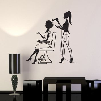 Wall Decal Hair Salon Beauty Spa Nail Hairdresser Stylist Vinyl Sticker Unique Gift (ig2879)