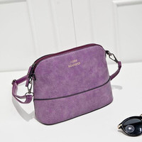 2016 New fashion Frosted Shell women leather handbag small shoulder bags Female crossbody bag ladies bolsas femininas