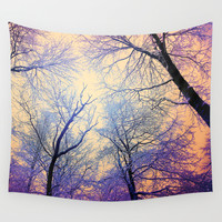 Snow Angel's View - Nature's Painting (color 2) Wall Tapestry by Soaring Anchor Designs