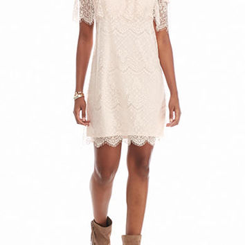 As U Wish Lace Off the Shoulder Dress