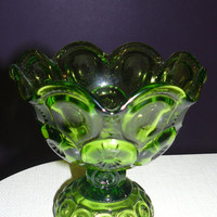 Vintage Moon and Stars Glass Compote