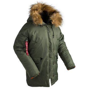 New outdoor Men Winter hunting jacket Padded Parka coat military fur hood  tactical army outwear  N3B puffer jacket