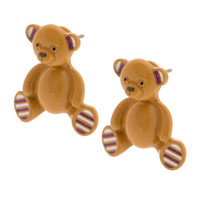 Katy Perry Teddy Bear Front and Back Earrings