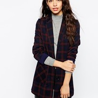New Look Check Print Boyfriend at asos.com