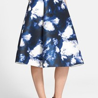 Women's kate spade new york 'dusk clouds' print a-line skirt