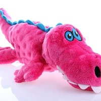 goDog Aligator Gator Plush Dog Toy Size: Large Pink
