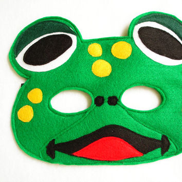 Children's Frog Felt Mask, What Does The Fox Say