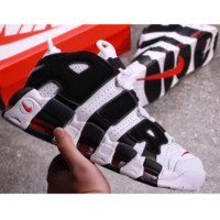 Nike Air More Uptempo Big R Scottie Pippen White/Black Sport Basketball Shoes G-FEU-SY