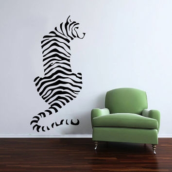 Wall Decal Vinyl Sticker Decals Art Home Decor Design Mural Leopard Print Wild Cat Wildcat Animals Panther Tiger Bedroom Bathroom Dorm AN104