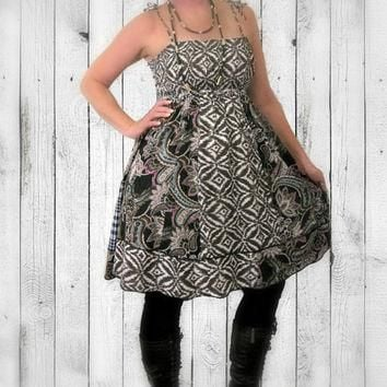 Upcycled Indie Dress, ON SALE-20% OFF! Tribal Sundress, 100% Handmade ~ Altered Clothi