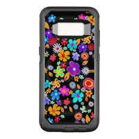 Abstract Butterfly Flowers OtterBox Commuter Samsung Galaxy S8 Case