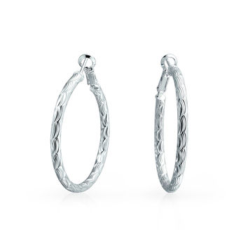 Bling Jewelry Contemporary Hoops