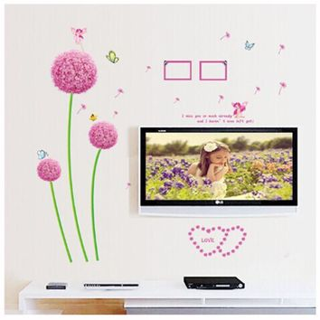 wall stickers Dandelion Removable PVC Wall Decals