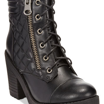 Rampage Harrison Lace-Up Lug Booties