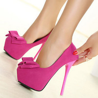 Korean High Heel Butterfly Shoes = 4814812740