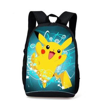 New Fashion Game  Backpack Anime Pocket Monster School Bags For Teenagers Gengar Bag PU Leather Backpacks RugzakKawaii Pokemon go  AT_89_9