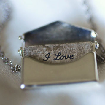 Love Letter Locket Necklace by janiecox on Etsy