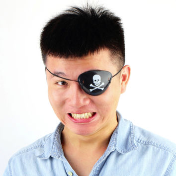 1PC Hot Worldwide Pirate Eye Patch Skull Crossbone Halloween Party Favor Bag Costume Kids Toy