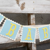 Baby Banner,Baby Shower Decor, Baby Garland, Baby Photo Prop, Gender Reveal Banner, Maternity Photo Prop