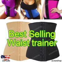 Underbust Corset Waist Trainer Cincher Girdle Sport Body Shaper Workout Tummy Belt