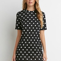 Textured Polka Dot Dress