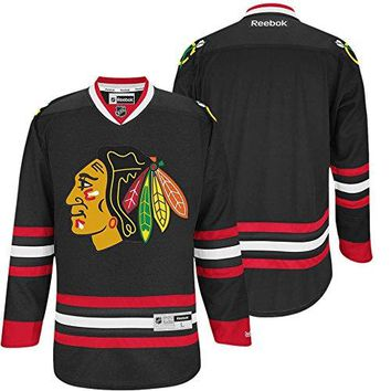 NHL Chicago Blackhawks Black Premier Jersey 2014-15 - Blank