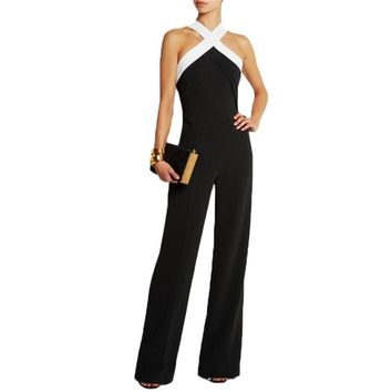 Sexy Halter Neck Off Shoulder Long Women Jumpsuits 2017 Spring Summer Sleeveless Club Party Rompers Casual Playsuits Overalls