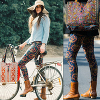 All Season Fashionable Stretchable Patterned Floral Printed Pants Leggings A949