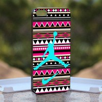 Aztec Nike Jordan Mint, Print on Hard Cover iPhone 5 Black Case