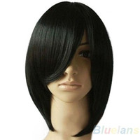 Fashion Women's Short Black Straight Party Cosplay Hair Wig +wigs hairnet