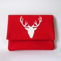 Deer Stamped iPad Mini Case , Red iPad Air Case , Red iPad Mini Cover