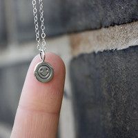 Smiley Face Necklace - Sterling Silver Smiley Face Charm . Don't Worry Be Happy . Positive Jewelry . CLEARANCE SALE