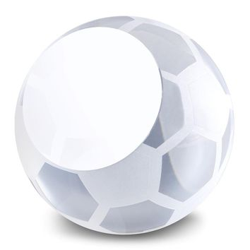 Glass Soccer Ball Award Paperweight - Etching Personalized Gift Item