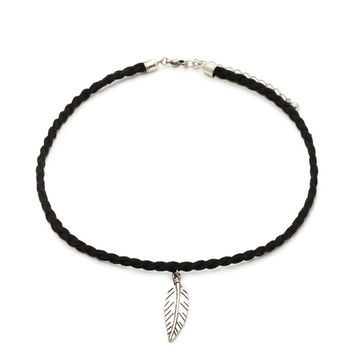 Feather Faux Suede Choker   Forever 21 - 1000177771
