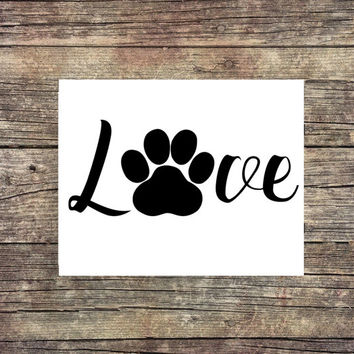 Dog and Cat Love - Digital Print - Instant Download - Digital Art - Digital Printable - Lab Art - Dog - Golden Retriver - Paw Print - Pet