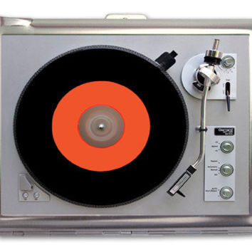 Turntable Record Player Photo Retro Cigarette Case Lighter Wallet Business Card Holder