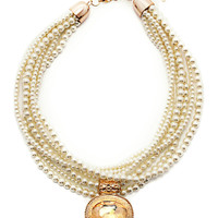 Passion For Pearls Necklace in Gold – bandbcouture.com