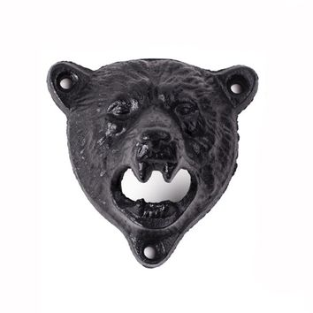 Mounted Bear Bottle Opener